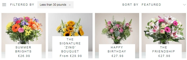 Best online flowers from Zing Flowers company